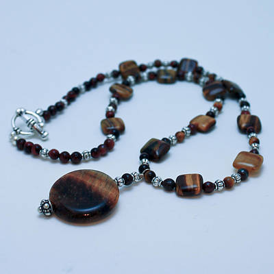 Modern Man Surf - 3516 Tiger Eye Necklace  by Teresa Mucha