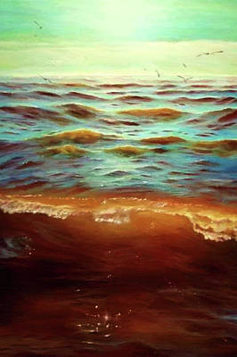 Sunrise Painting - Nature Work Landscape by Edna Wallen
