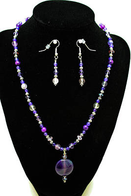 3546 Purple Veined Agate Set Original