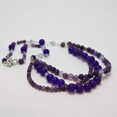 3580 Amethyst And Adventurine Necklace Original by Teresa Mucha