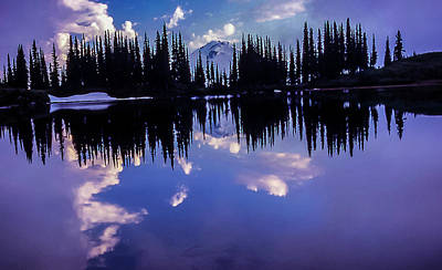 Photograph - 35mm Scan Of Image Lake And Glacier Peak by Doug Scrima