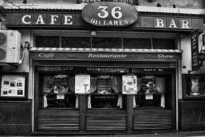 36 Billards Cafe Art Print by Hans Wolfgang Muller Leg
