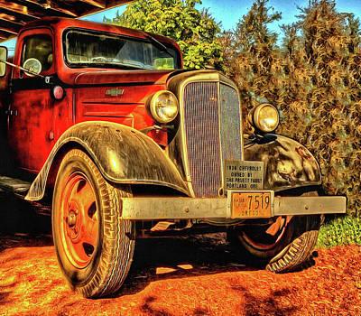 Photograph - 36 Chevy Truck by Thom Zehrfeld