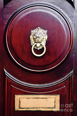 Photograph - Door Knocker by Tom Gowanlock