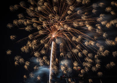 Photograph - Fireworks 2015 Sarasota 2 by Richard Goldman