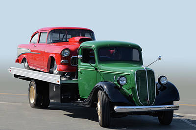 Photograph - 36 Ford Hauler by Bill Dutting