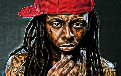 Wayne Mixed Media - Lil Wayne Collection by Marvin Blaine
