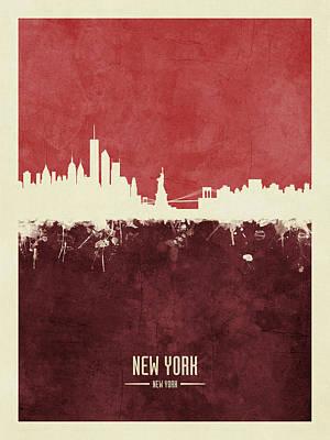 Digital Art - New York Skyline by Michael Tompsett