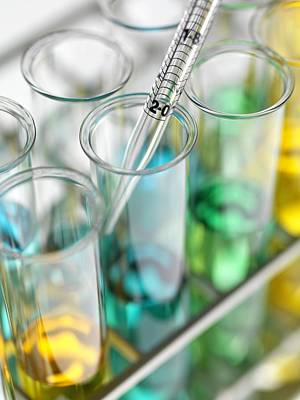 Photograph - Pipetting by Tek Image