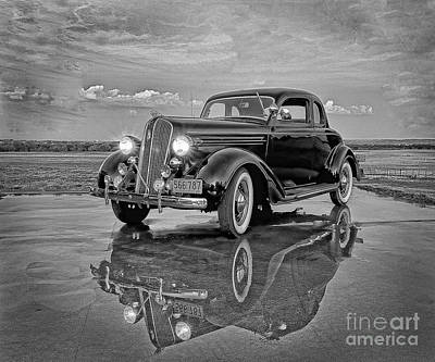36 Plymouth Reflections Pencil Sketch Art Print