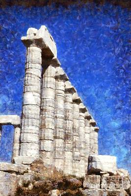 Antiquities Painting - Temple Of Poseidon by George Atsametakis
