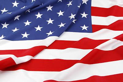 Stellar Interstellar - USA flag No.90 by Les Cunliffe