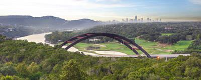 360 Bridge Near Austin Texas Morning Panorama 1 Art Print by Rob Greebon