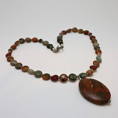 3600 Picasso Jasper Necklace Original by Teresa Mucha