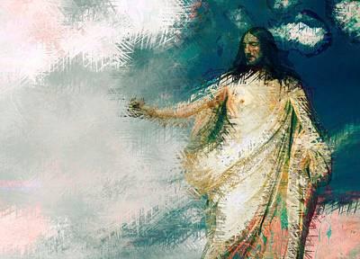 Cross Digital Art - Jesus Christ - Religious Art by Elena Kosvincheva