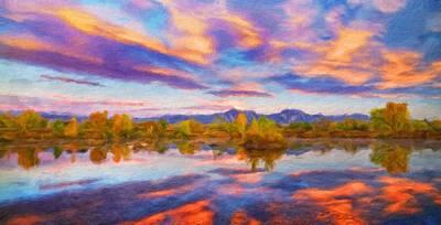 Bob Ross Painting - Nature Art Landscape by Margaret J Rocha