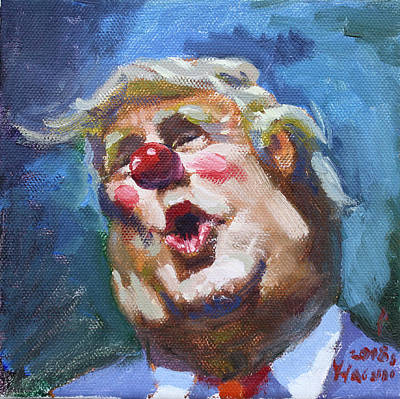 Clown Wall Art - Painting - 365 Days With This Clown by Ylli Haruni