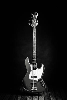 Photograph - 365.1834 Fender Red Jazz Bass Guitar In Bw by M K Miller