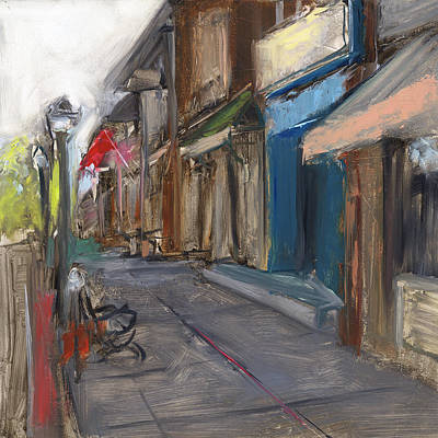 Cafes Painting - Rcnpaintings.com by Chris N Rohrbach