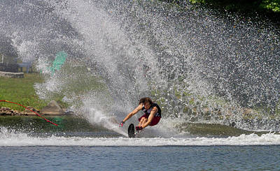 Photograph - 38th Annual Lakes Region Open Water Ski Tournament by Benjamin Dahl