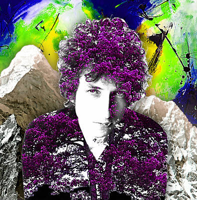 Folk Art Mixed Media - Bob Dylan Collection by Marvin Blaine