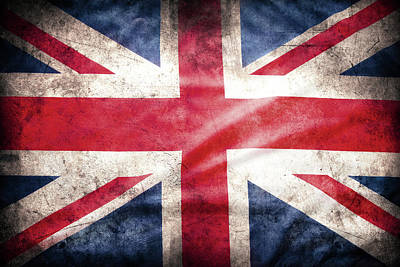 Digital Art - British Flag by Les Cunliffe