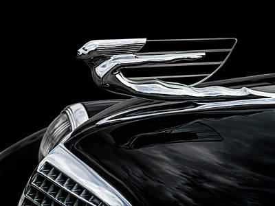 Chrome Wall Art - Digital Art - 37 Cadillac Hood Angel by Douglas Pittman