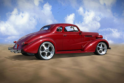 Street Rod Photograph - 37 Chevy Coupe by Mike McGlothlen