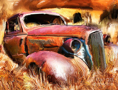 37 Chevy Art Print by Tom Griffithe