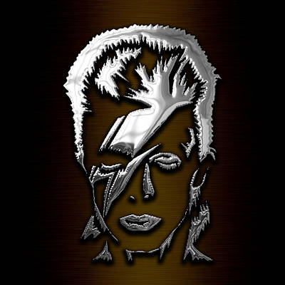 Icon Mixed Media - David Bowie Collection by Marvin Blaine