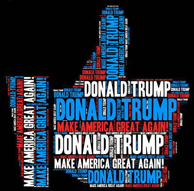 Hillary Clinton Digital Art - Donald Trump 2016 Presidential Candidate by Elena Kosvincheva