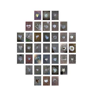 Digital Art - 37 Hearts In Birdcrap by Boy Sees Hearts