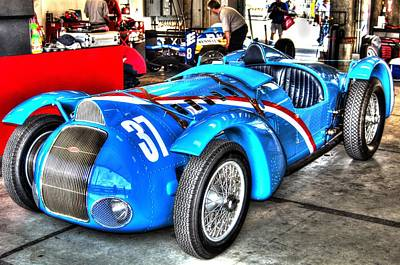 Delahaye Fast From The Front Art Print by Josh Williams