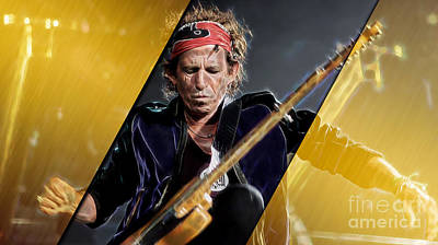 Keith Mixed Media - Keith Richards Collection by Marvin Blaine