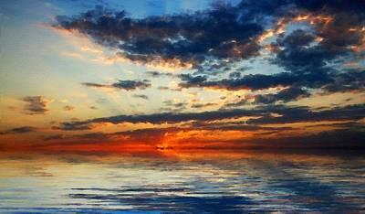 Ocean Digital Art - Landscape Graphic by Malinda Spaulding