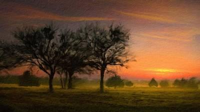 River Digital Art - Landscape Poster by Victoria Landscapes