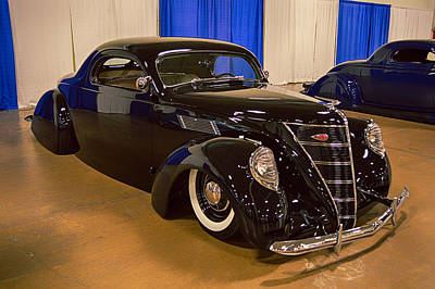 Photograph - 37 Lincoln Zephyr Coupe by Bill Dutting