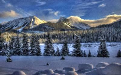 Water Digital Art - Nature Landscapes by Landscape Art