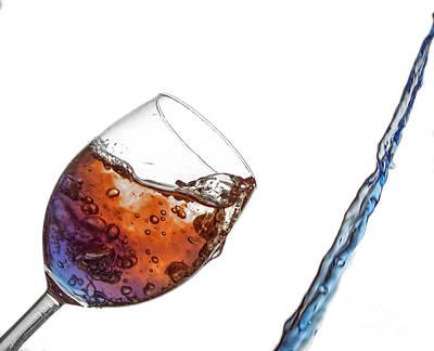 Wine Glass Photograph - Wine Glass Fluid Motion by Sebastien Coell