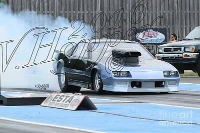 Wall Art - Photograph - 3719 05-29-16 Esta Safety Park Drag Racing by Vicki Hopper