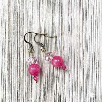 3727e Pretty In Pink Pierced Earrings Original