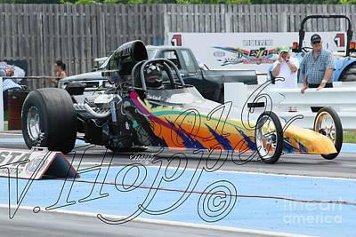 Wall Art - Photograph - 3734 05-29-16 Esta Safety Park Drag Racing by Vicki Hopper