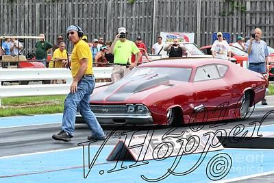 Wall Art - Photograph - 3757 05-29-16 Esta Safety Park Drag Racing by Vicki Hopper
