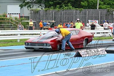 Wall Art - Photograph - 3758 05-29-16 Esta Safety Park Drag Racing by Vicki Hopper