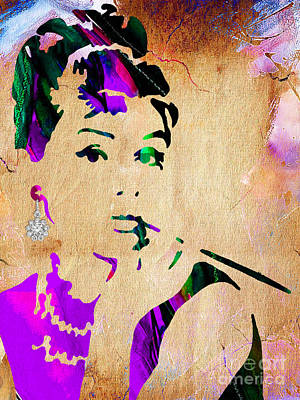 Movie Stars Mixed Media - Audrey Hepburn Collection by Marvin Blaine