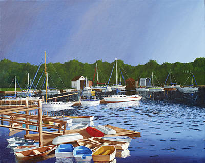 Painting - 38 Boats by Hugh Blanding