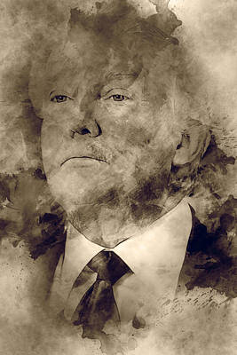 Donald Trump Art Print by Elena Kosvincheva
