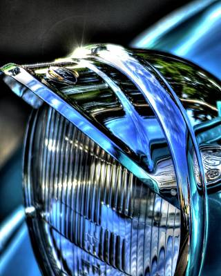 Jerry Sodorff Royalty-Free and Rights-Managed Images - 38 Ford Headlamp by Jerry Sodorff