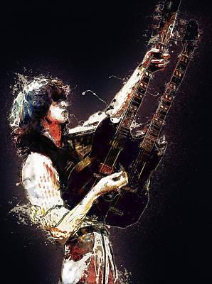 Jimmy Page Digital Art - Jimmy Page. Led Zeppelin. by Elizabeth Simon