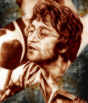 Music Mixed Media - John Lennon Collection by Marvin Blaine